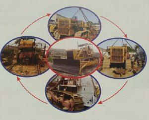 Refurbishment bulldozer